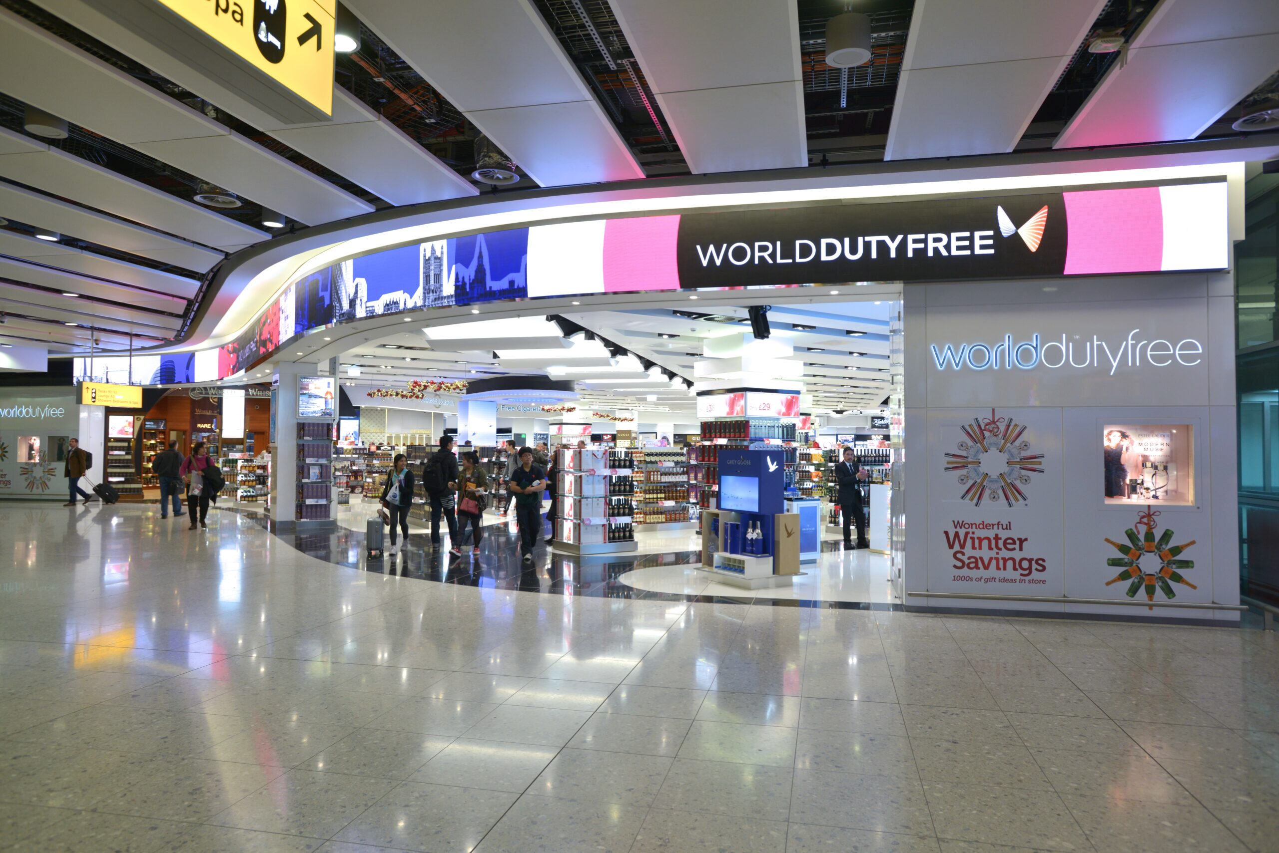 Blynk designed, supplied, and installed all the digital and audio elements in Dufry Group's flagship store in Heathrow Terminal 2. We implemented a unique flexible high-resolution digital fascia & high-resolution edgeless LED column. We also incorporated Meyer Sound audio throughout and included a digital concierge and interactive 'fragrance finder' display.