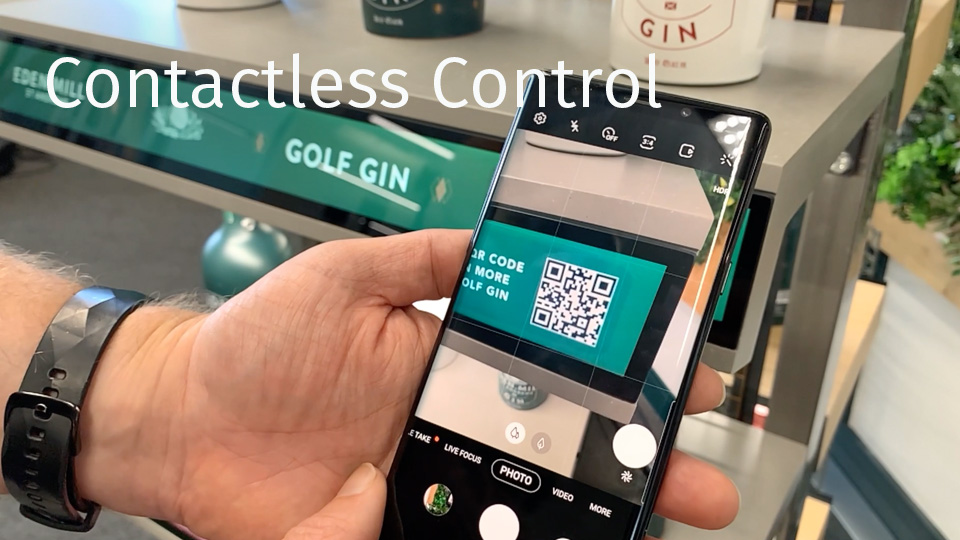 The Blynk Contactless Control system can easily add interactivity to new and existing screens. The user's own mobile device can control video playback, receive information, create digital art or even play games. The possibilities are endless, with multiple users able to collaborate or compete simultaneously.