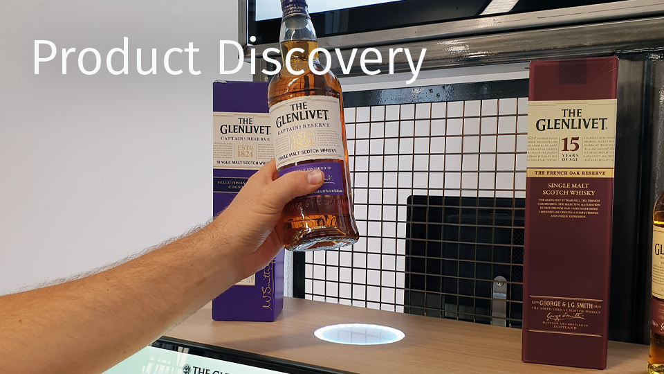 We offer several interactive Product Discovery solutions that allow customers to interact with products and displays and help guide them through the decision-making process.